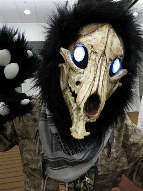 super awesome dog skull fursuit partial fursuit furry