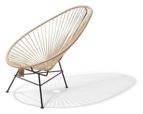 acapulco chaise chaise acapulco en chanvre 100 naturel le fauteuil