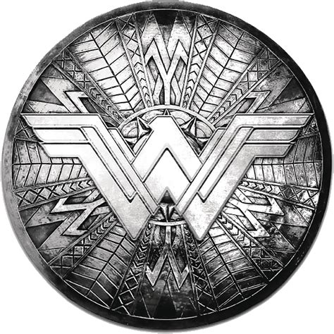 Apr178685 Wonder Woman Movie Round Shield Pewter Lapel
