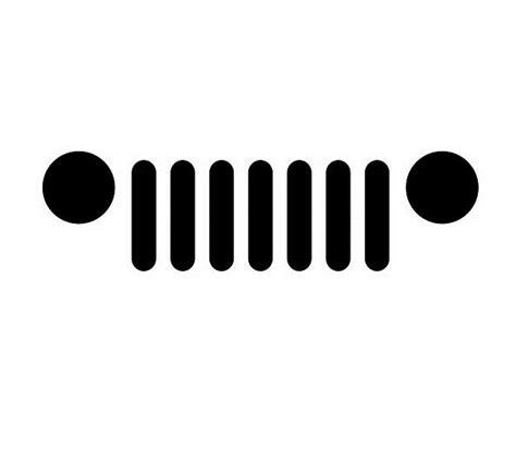 jeep jk grill logo minimal jeep grill vinyl decal oracal logo symbol car