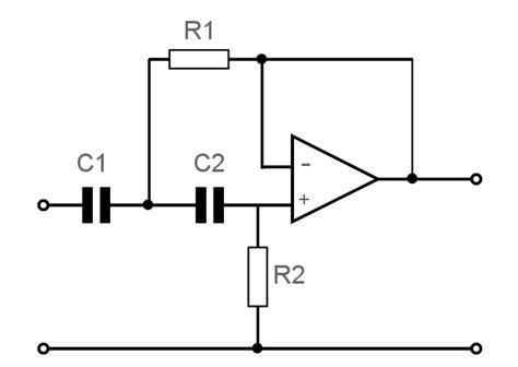 Amp High Pass Active Filter Circuit Electronics Notes