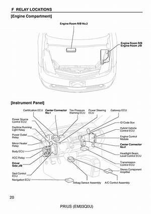 2005 Toyota Prius Electrical Wiring Diagram Oem 24502 Getacd Es