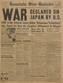 World War II Newspaper Headlines