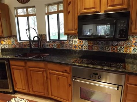 Dusty Coyote Mexican Tile Kitchen Backsplash Diy