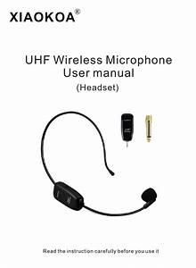 Xiaokoa Wireless Microphone Headset  Uhf Wireless Mic