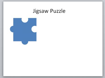 create  jigsaw puzzle piece  powerpoint  shapes