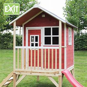 Holzhaus Kinder Garten : holz kinder spielhaus stelzen kinderspielhaus stelzenhaus rot rutsche flach vom gartenhaus ~ Whattoseeinmadrid.com Haus und Dekorationen