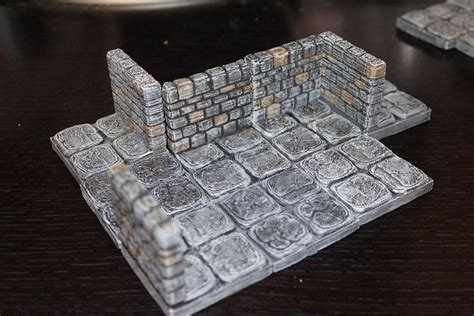 openforge stone dungeon walls free 3d model 3d printable