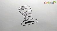 How to Draw Dr Seuss Hat Step by Step - YouTube