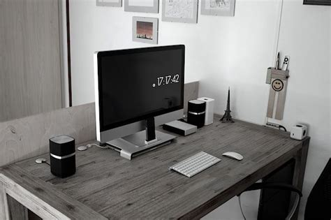 pc mac bureau best 25 imac desk ideas on home study rooms