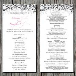 wedding vow renewal ceremony program simple wedding ceremony program digital by