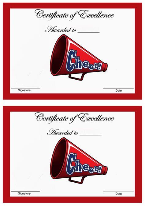 cheerleading awards birthday printable