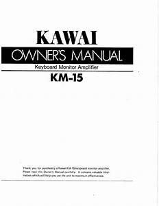 Keyboard Monitor Amplifier Km-15 Manuals