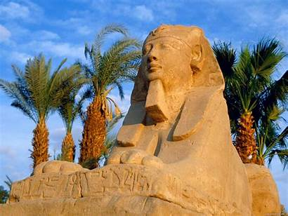 Egypt Trees Palm Sphinx Wallpapers Ancient Countries