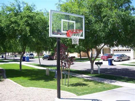 selecting  location    basketball hoop