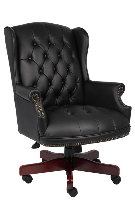 b800 bk traditional tufted executive office chair