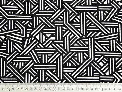 Schwarz Weiß Muster by Crepe Jersey Grafisches Muster Schwarz Wei 223 Wunderland