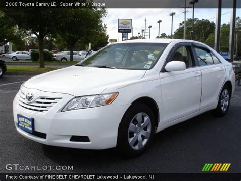 2008 Toyota Camry Le by White 2008 Toyota Camry Le Bisque Interior