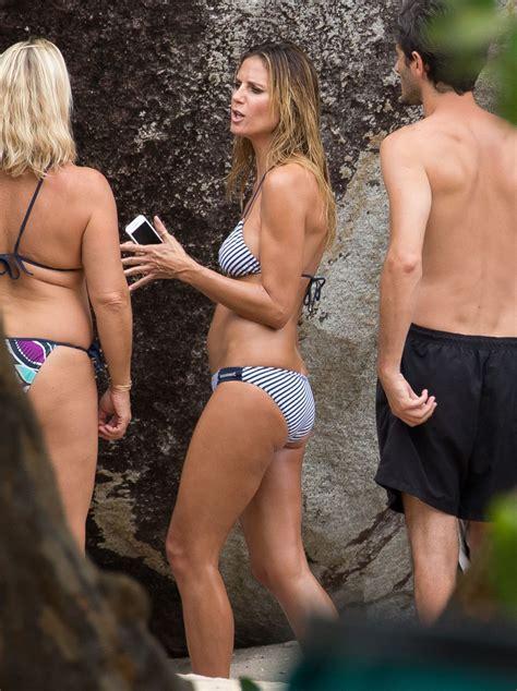 Heidi Klum In Bikini On The Set Of A Photoshoot In The