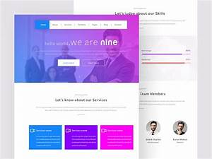 Nine One Page Template