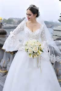 robe de mariée manche voile - Robe De Mariã E Avec Manche Dentelle