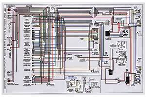 Wiring Diagram  1964 Chevelle  El Camino  11x17  Color