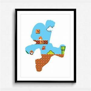8 Bit Mario Silhouette Poster Shut Up And Take My Money