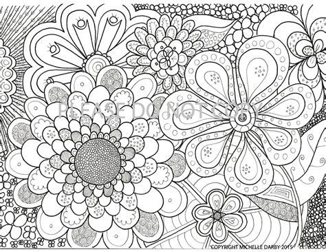 flower power zen mandala colouring page