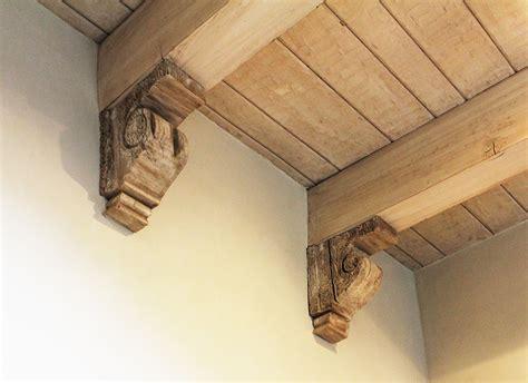 Corbel Installation by Antique Ceiling Corbels La Puerta Originals