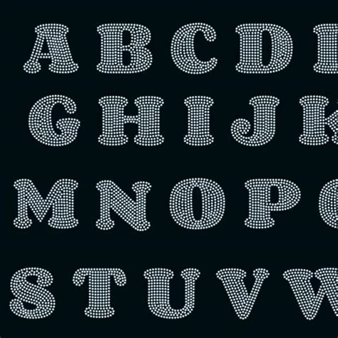 bold rounded letters alphabet svg eps png dxf rhinestone template beehivefiles