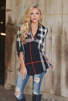 1000 ideas about plaid tunic on tunics pink boutique and plaid