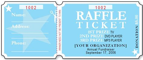 fundraiser ticket template sle raffle ticket templates formal word templates