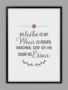 Poster Für Küche : originaldruck mit wein kochen kunstdruck k chen ~ Watch28wear.com Haus und Dekorationen