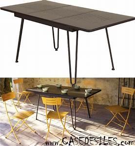 Table Jardin 4 Personnes. awesome table de jardin aluminium et ...