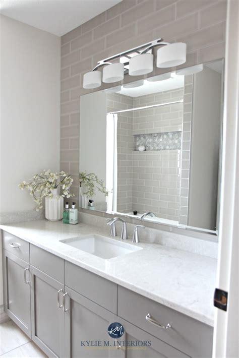 bathroom update bianco drift quartz countertop benjamin