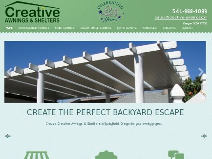 creative awnings shelters covers springfield