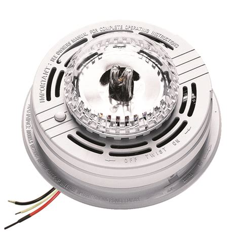 smoke detector red light solid amazon com kidde sl177i fyrnetics hardwire strobe light