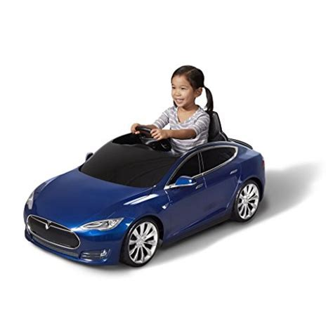 Tesla Radio Flyer Model S Electric Kids Car Deep Blue
