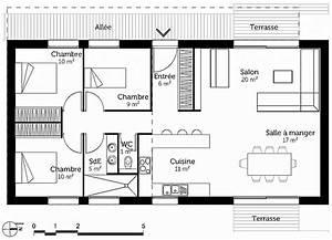 appealing plan maison etage 4 chambres contemporary best With plan maison 3 chambres 1 bureau