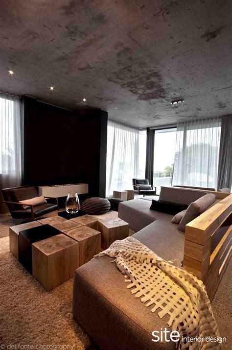 dramatic modern house  site interior design decoholic