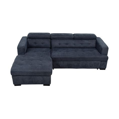chaise navy 58 playpen playpen navy tufted chaise sectional sofas