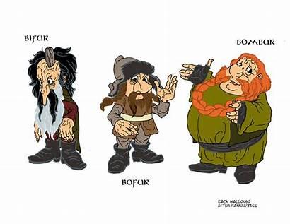 Hobbit Rankin Bass Dwarves Bombur Bofur Bifur