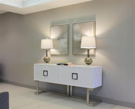 Console Shop by Braxton White Stainless Steel Media Console Shop Now