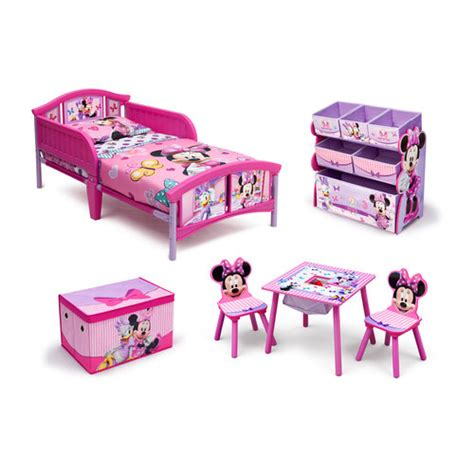 minnie mouse bed walmart disney minnie mouse room in a box with bonus bin