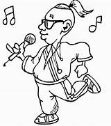 Coloring Pages Singing Microphone Rock Star Printable Actor Supercoloring Getdrawings Line Drawing Labels Coloring2print sketch template