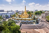 Sule Pagoda On A Fine Day Stock Photo - Download Image Now ...