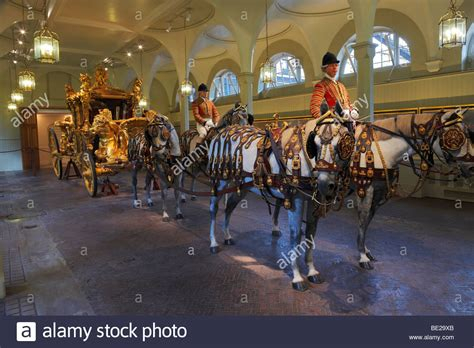 The Gold State Coach. The Royal Mews, Buckingham Palace