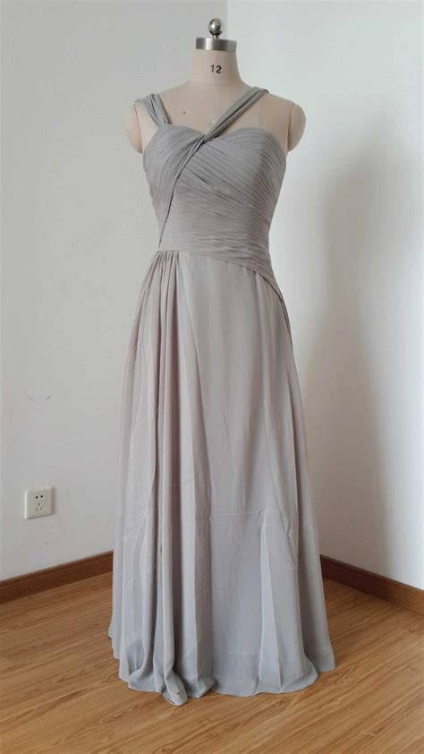 light grey bridesmaid dresses long straps light grey chiffon floor length long bridesmaid