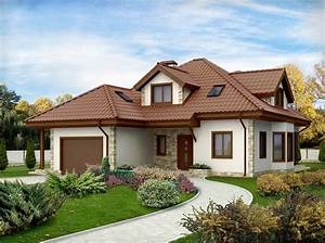 Projekat kuće sa potkrovljem i garažom Z58 KucaSnova