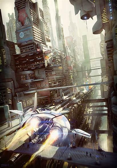 Scifi Canyon Sci Fi Concepts Stefan Morrell